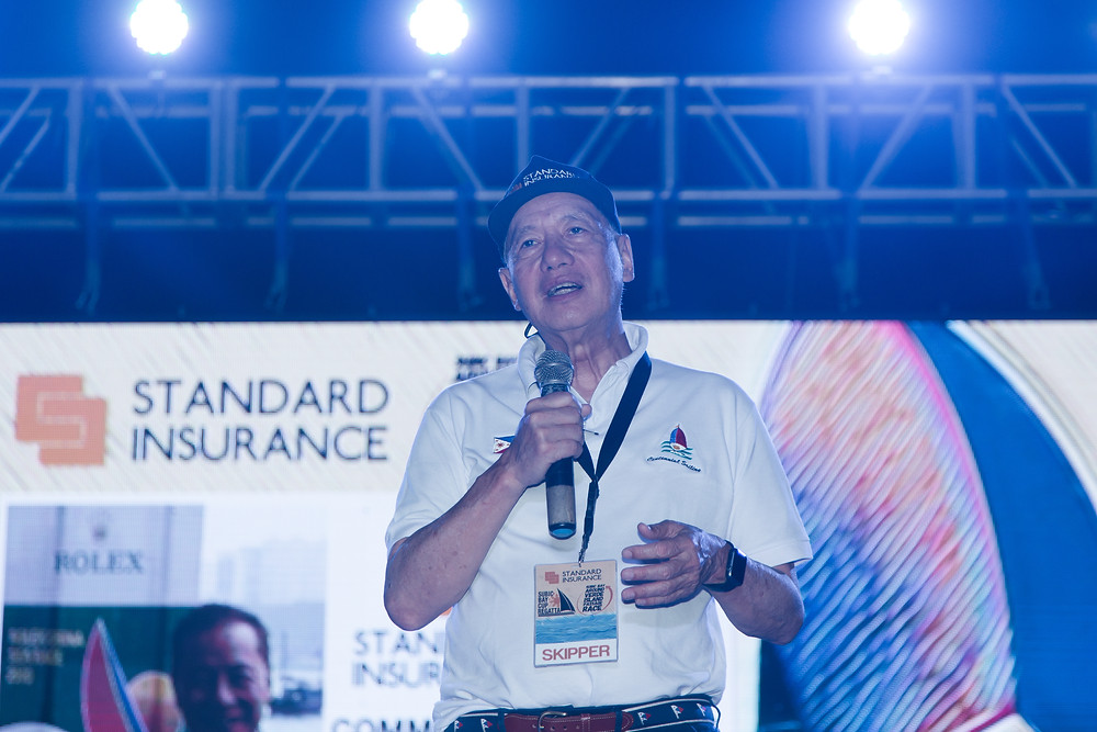 Mr. Judes Echauz, Group Chairman of Standard Insurance and President of the Philippine Sailing Association (PSA) during the awarding of the Subic Bay Around Verde Island Race and Subic Bay Cup Regatta last March 2018.