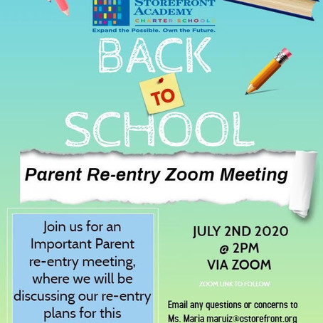 Back to School Re-Entry Meeting