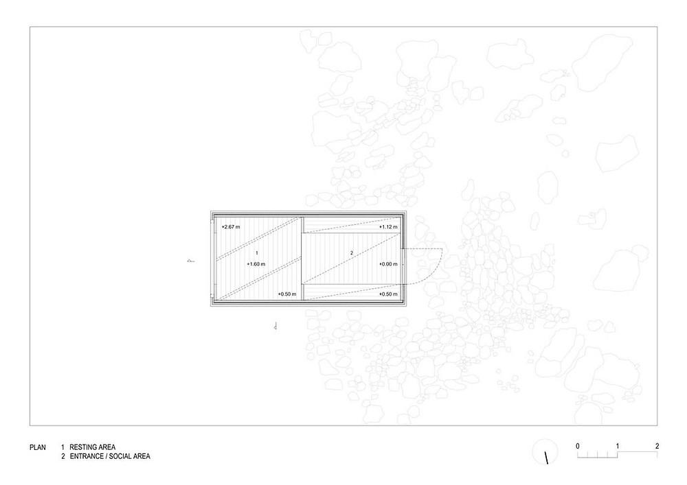 Kanin Kış Kabini Plan / OFIS Mimarlık / Kanin Dağı