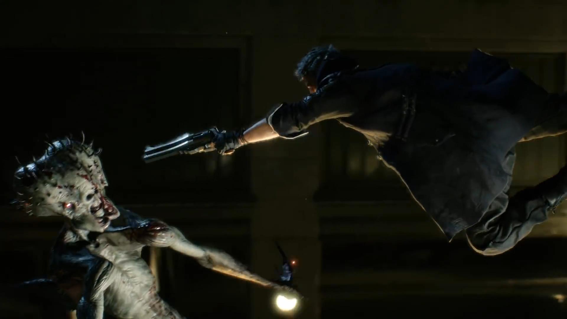 Nero Shooting a Demon
