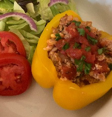 Stuffed Peppers with Cauliflower Rice