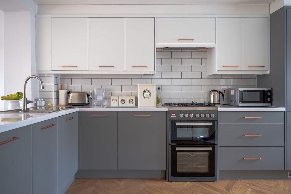 A minimalist kitchen design