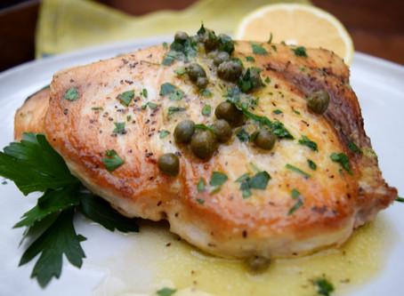 Swordfish with Mustard-Caper Vinaigrette