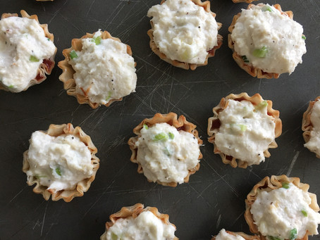 Crab and Phyllo Shells Appetizer
