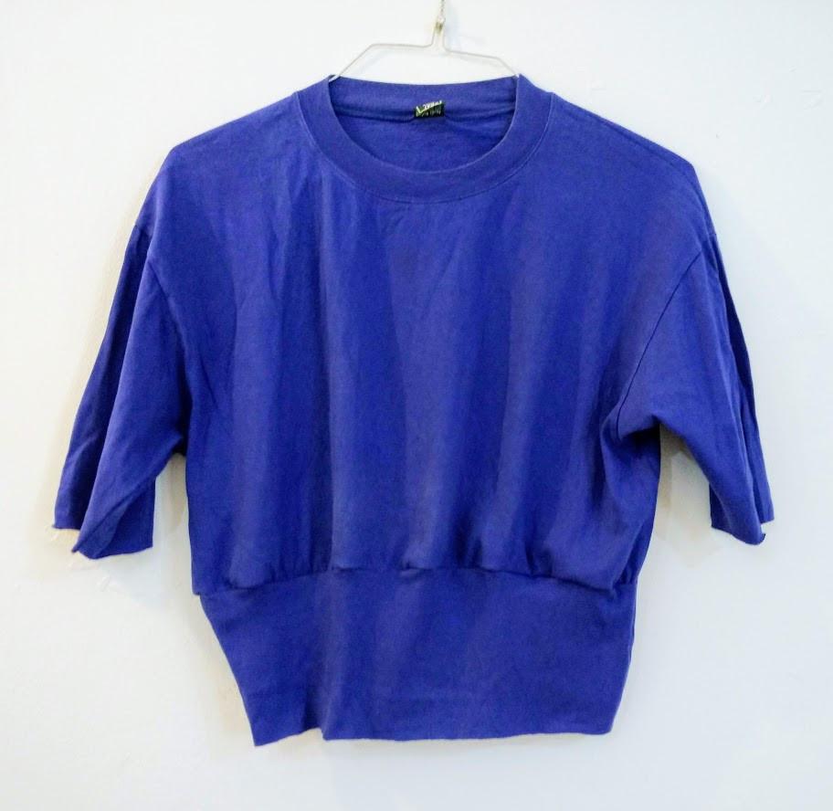Royal blue gathered t shirt