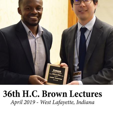 H.C. Brown graduate research award!