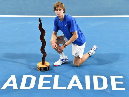 RUBLEV (RUS) WINS 4TH TITLE IN ADELAIDE