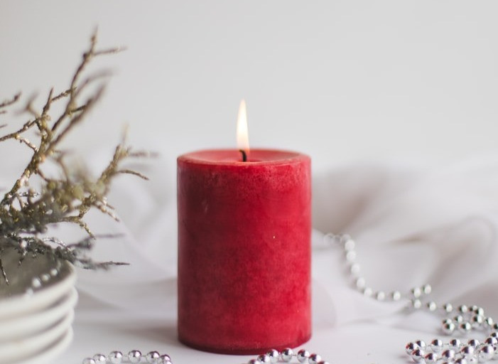 candle red christmas gift