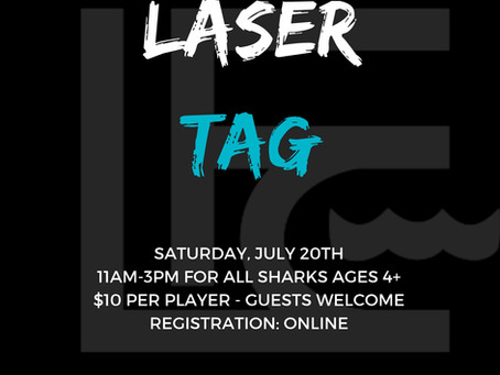 Laser Tag- Saturday, July 20th (11-3pm)