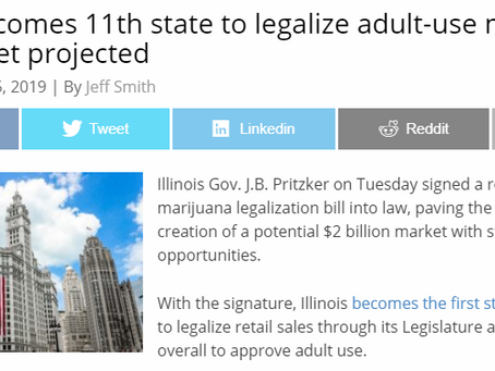 Illinois becomes 11th state to legalize adult-use marijuana