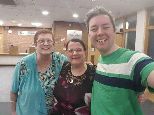 Seth Daniels from Queen Tribute Majesty with me and my mum.