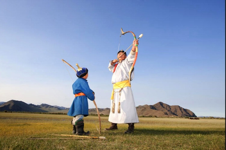 the target of Mongolian archery