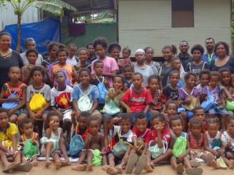 West Papuan Children receive Hygiene Kits