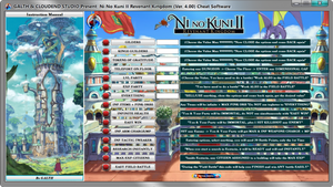 NI NO KUNI II REVENANT KINGDOM (VER. 4.00) cheat, mod, trainer, dragon ball, bandai namco, trick, trucchi, monster hunter world, fortnite, pubg, anthem, steam, hack, cloudend studio, galth, world of warcraft, league of legends, hearth stone, the tale of a timless tome, 19/03/2019,
