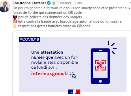 COVID-19: Enfin une attestation de déplacement numérique !!