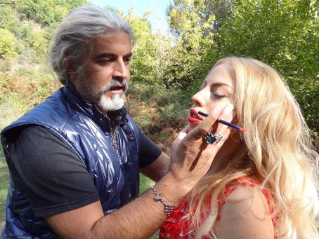 Backstage for a music video clip             MUA Sakis Isaakidis