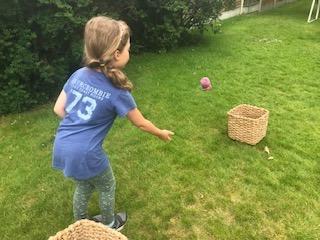 Fleur (3K) enjoying Virtual Sports Day! Well done Fleur!