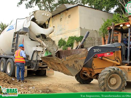 Fundición de 70m.l. de concreto hidráulico en el Pasaje Modelo de la Col. López Arellano