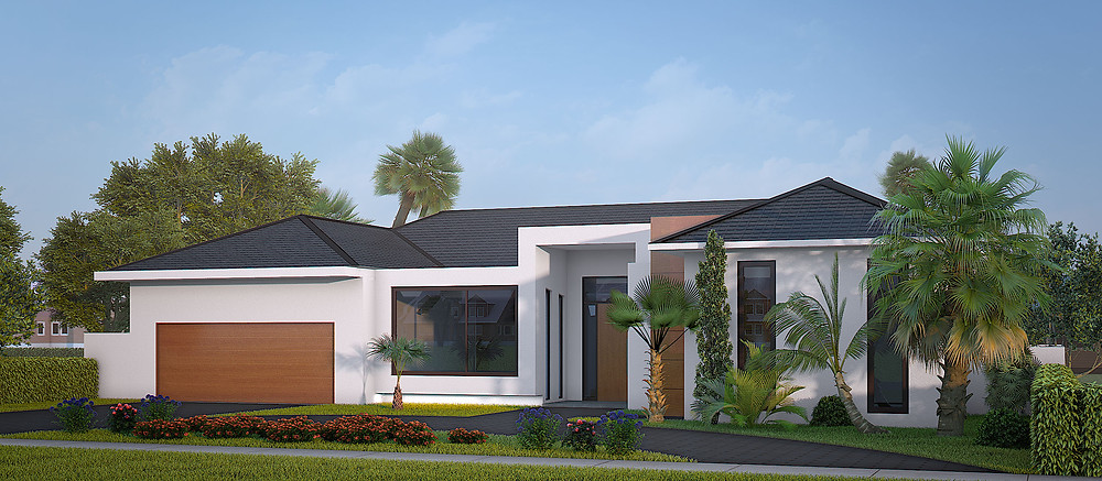 Architectural 3D Rendering for the house in Florida