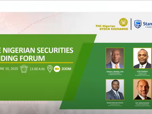 Nigerian Stock Exchange Securities Lending Webinar Featuring Roy Zimmerhansl