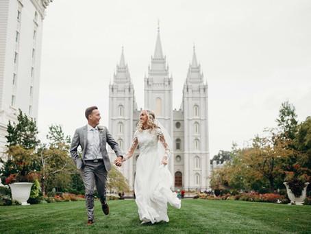 Alli & Andrew's Sweet Nuptials in Utah's Salt Lake Temple!
