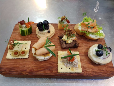 Our Own Creation - Open Faces Canapes.