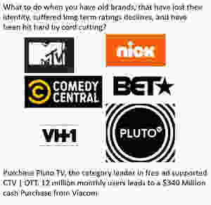 Viacom- MTV, VH1, Comedy Central, Nickelodeon more purchase Pluto TV to stay relevant in the CTV | OTT space