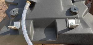 Brackets on underside use original pillion seat bolt holes for mounting.
