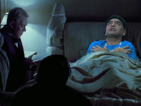 Maradona celebra el gol de Messi y no se salvó de los memes