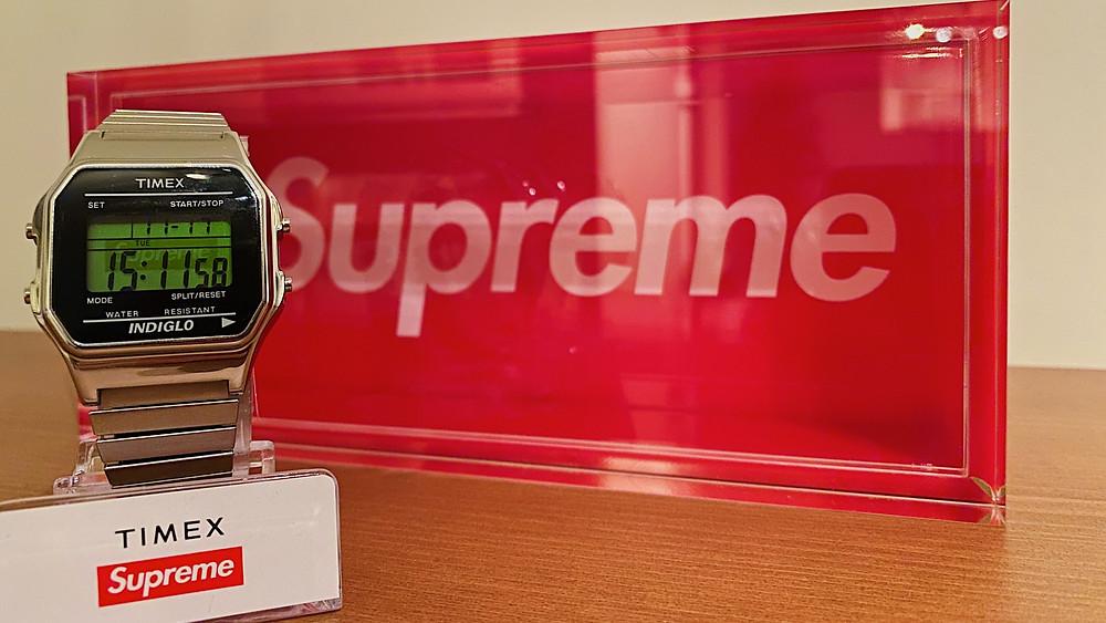 Supreme Timex Watch Silver