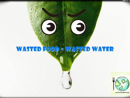 Food waste is destroying our beautiful planet - It wastes water.
