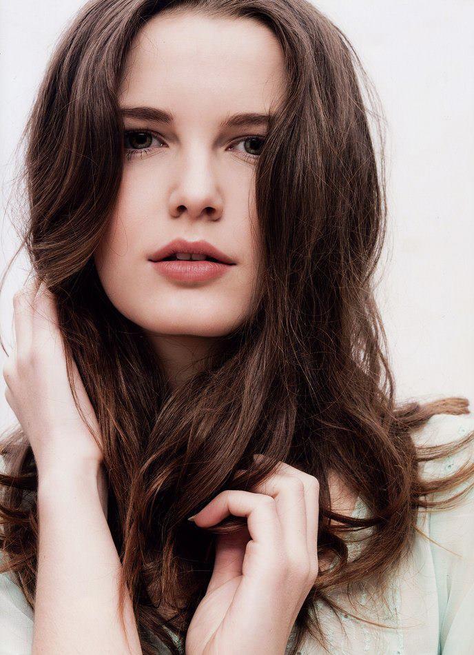 dark hair and white skin