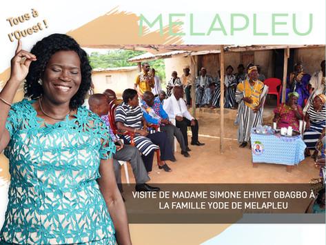 VISITE DE MADAME SIMONE EHIVET GBAGBO À LA FAMILLE YODE DE MELAPLEU