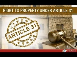 Right to Property: Evolution and The Current Scenario