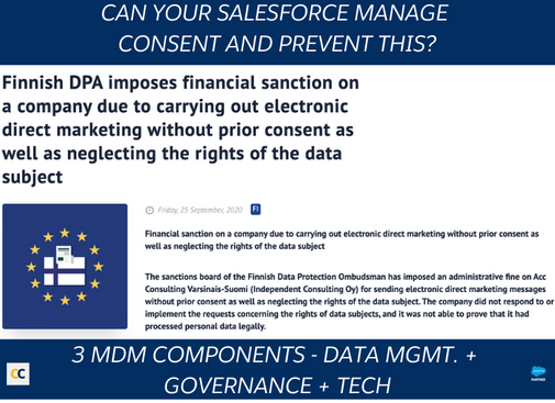 Can your salesforce manage consent and prevent this?