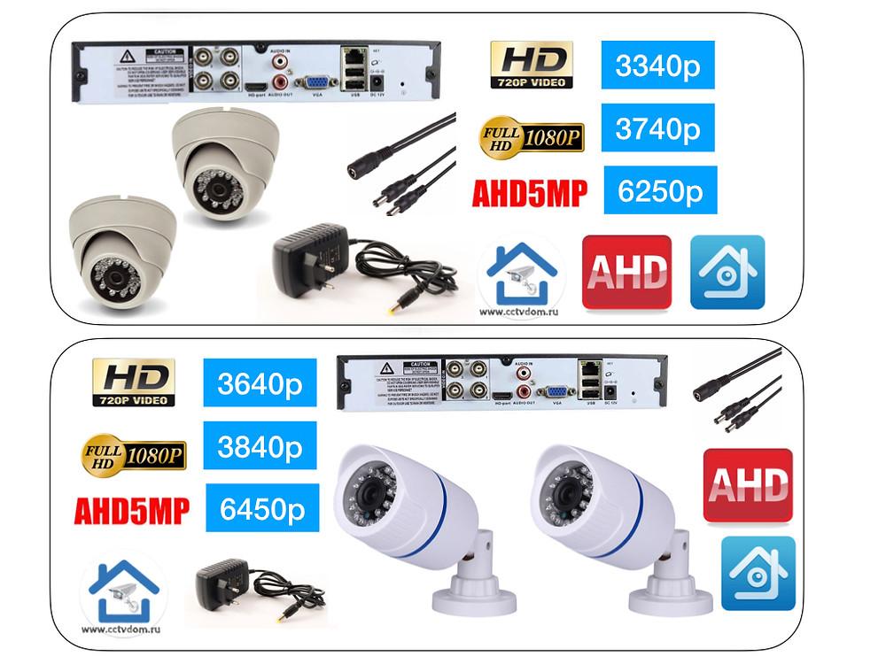 Стоимость комплектов видеонаблюдения на  2 камеры