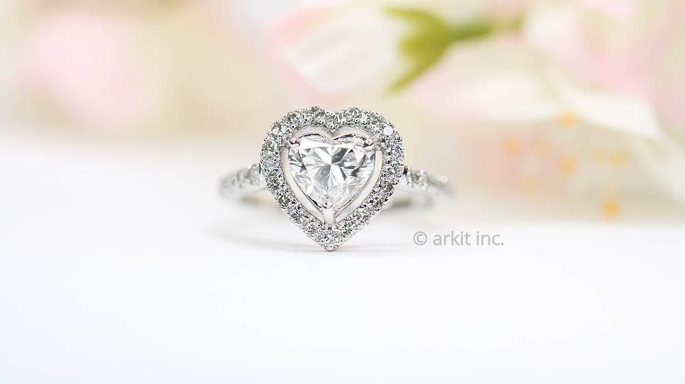 Diamond ring photography | ARKIT inc.