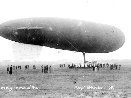 Army airship is a popular attraction in Haywards Heath