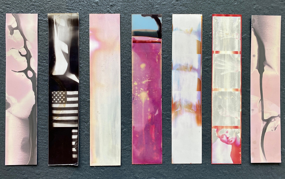 An example of abstract photobooth strips created during the photobooth process.