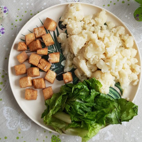 Tofu al forno e cavolfiore