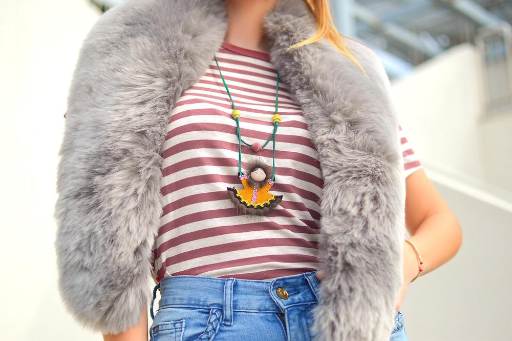 woman, fur, fashion, fake fur