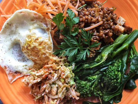 Asian wheat berry salad
