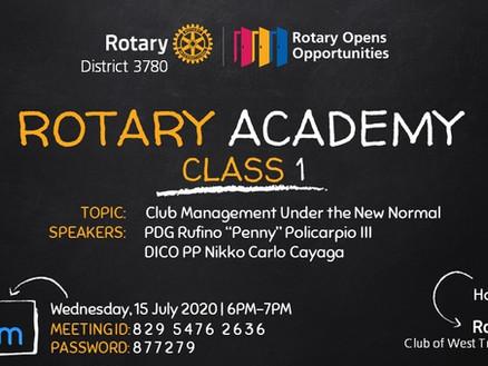 Rotary Academy Class 1