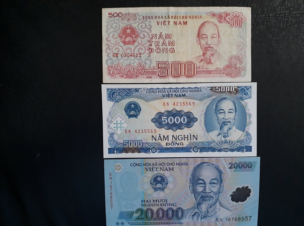 Uncle Ho is on all Vietnamese currency. (c) Graham Minser