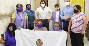 Sáenz y el ministro Arroyo visitaron el CPI de Villa Lavalle y la cooperativa Hilos de Juanita