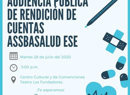 Audiencia Pública de Rendición de Cuentas 2020