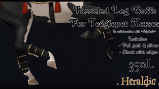 . Heraldic . - Tasseled Leg Cuffs
