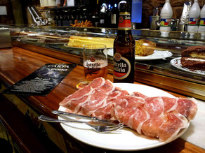 Jamon Serrano y Cerveza, the best what you can eat and drink after a long sightseeing in Madrid