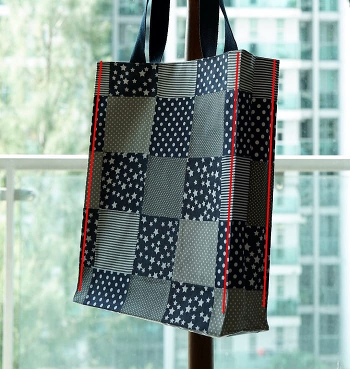 How to make a patchwork tote bag - Step 13