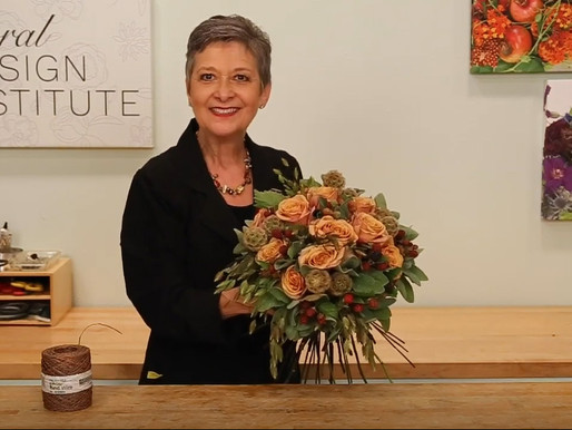 Autumn Bridal Bouquet from the Floral Design Institute